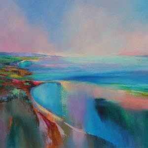 (CreativeWork) Broad Horizons by Sandra Michele Knight. oil-painting. Shop online at Bluethumb.