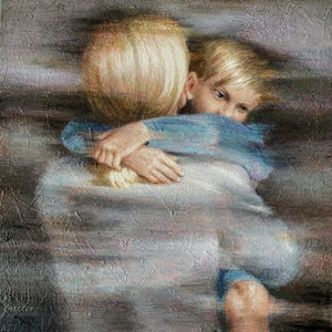 (CreativeWork) The memory of mom by Valentin Varetsa. oil-painting. Shop online at Bluethumb.