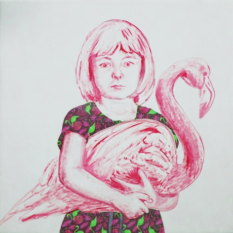 (CreativeWork) Pink Flamingo Ed. 4 of 10 by Leah Mariani. Print. Shop online at Bluethumb.