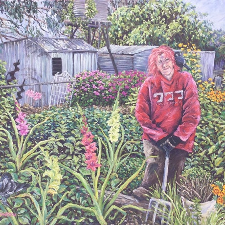 (CreativeWork) Andreas Garden by Sue McCutcheon. Oil Paint. Shop online at Bluethumb.