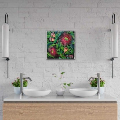 (CreativeWork) GARDEN MOSAIC by Suzy Strout. Acrylic Paint. Shop online at Bluethumb.