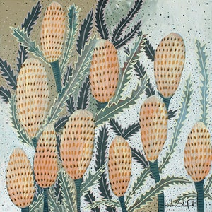 (CreativeWork) Happy Banksia - FRAMED PRINT Ed. 3 of 20 by Helen Shadforth. Print. Shop online at Bluethumb.