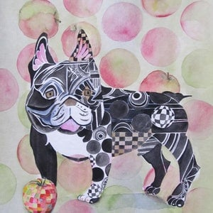 (CreativeWork) Can Dogs Eat Apples? by Ikuko Maddox. watercolour. Shop online at Bluethumb.
