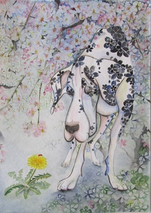 (CreativeWork) Spring, Spring, Spring! by Ikuko Maddox. Watercolour Paint. Shop online at Bluethumb.