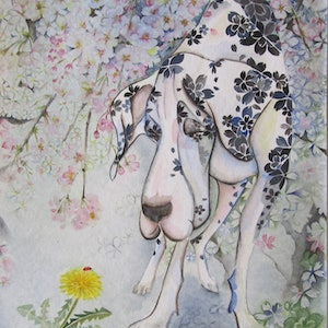 (CreativeWork) Spring, Spring, Spring! by Ikuko Maddox. watercolour. Shop online at Bluethumb.