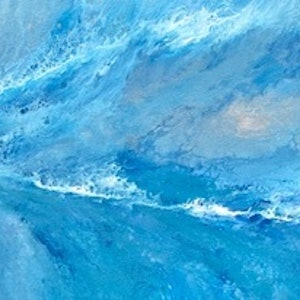 (CreativeWork) View from the point - original ocean abstract by Debra Ryan. mixed-media. Shop online at Bluethumb.