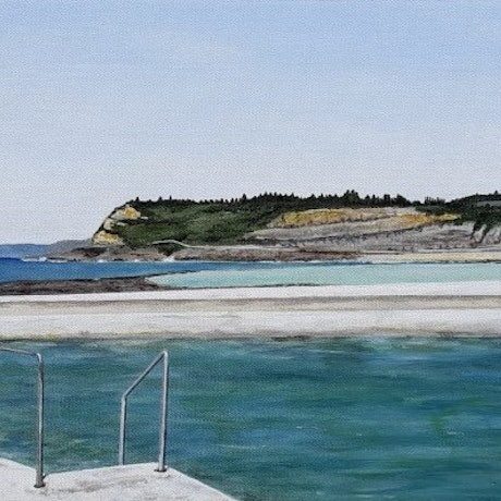 (CreativeWork) View from Newcastle Baths by Dianne Whipper. Acrylic Paint. Shop online at Bluethumb.