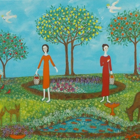 "(CreativeWork)   ""Counting our Blessings"" by Catherine Walker. Acrylic Paint. Shop online at Bluethumb."