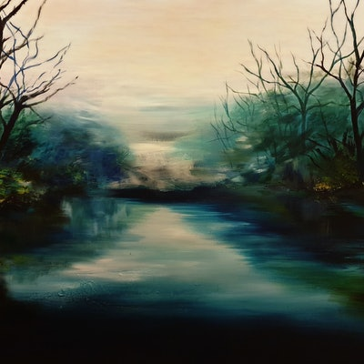 (CreativeWork) River Idling by Alice Howell. #<Filter:0x0000557739db8b10>. Shop online at Bluethumb.