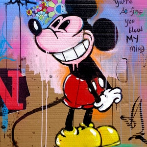 (CreativeWork) BLOW MY MIND MICKEY by loui jover. #<Filter:0x000055b8daffe928>. Shop online at Bluethumb.