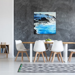 (CreativeWork) Ocean 'Sublime Sea' by Meredith Howse. oil-painting. Shop online at Bluethumb.