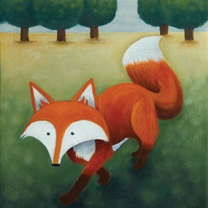 (CreativeWork) Frankie Walking by Kate Graham. acrylic-painting. Shop online at Bluethumb.