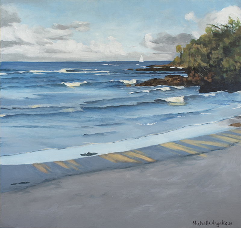 (CreativeWork) Afternoon waves (Port Macquarie, NSW) by Michelle Angelique. Acrylic Paint. Shop online at Bluethumb.
