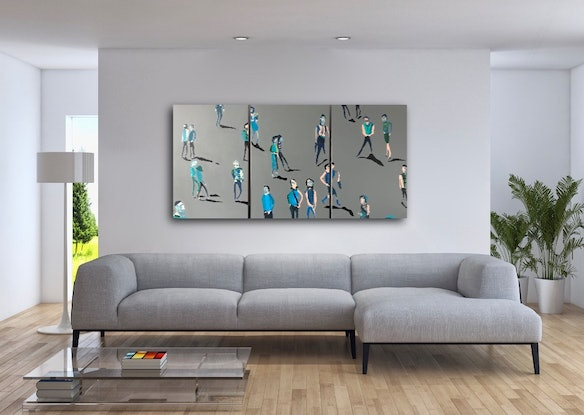 (CreativeWork) Together Apart Together (Tryptich) by Sharon Monagle. Acrylic Paint. Shop online at Bluethumb.