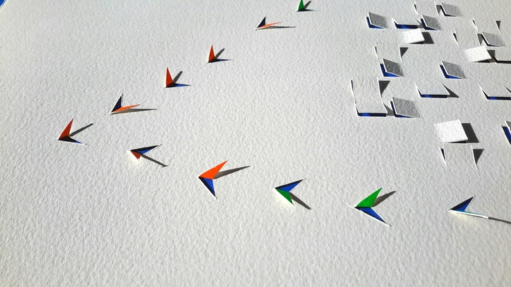 (CreativeWork) SOAR by MARION NELSON. Mixed Media. Shop online at Bluethumb.