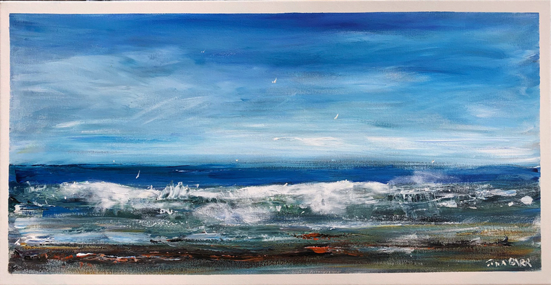 (CreativeWork) Wild Sea - Australia POSH16 by Tina Barr. Acrylic Paint. Shop online at Bluethumb.