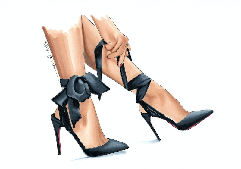 (CreativeWork) Getting Ready by Elza Fouché. drawing. Shop online at Bluethumb.