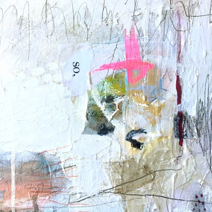 (CreativeWork) Dog Days by Nicole Fearfield. Mixed Media. Shop online at Bluethumb.