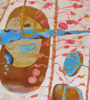 (CreativeWork) We Stop Chasing The Day by Cathy Beckwith. Acrylic Paint. Shop online at Bluethumb.