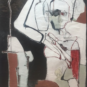 (CreativeWork) Patient by Brendan Kelly. mixed-media. Shop online at Bluethumb.