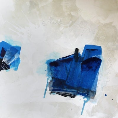 (CreativeWork) Power Dressed In Blue - Thunder Down Under Series by Cheryl Harrison. acrylic-painting. Shop online at Bluethumb.