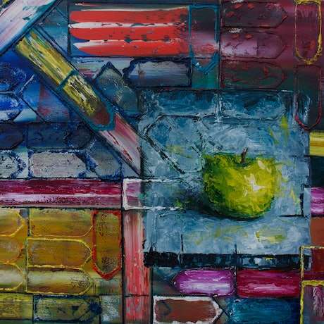 (CreativeWork) Apple Inc. - Collaborative Painting with American Artist Preston Smith by Damien Venditti. Oil Paint. Shop online at Bluethumb.