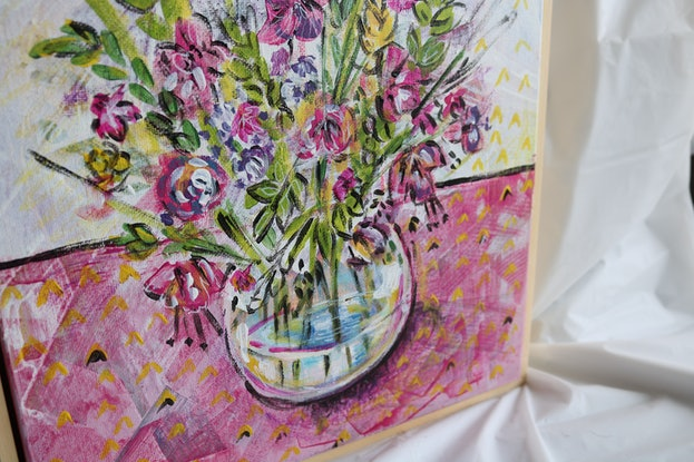 (CreativeWork) Vase of happiness  by Mirsai _18. Acrylic Paint. Shop online at Bluethumb.