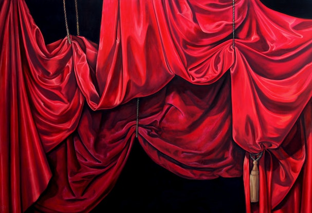 (CreativeWork) Tableau for a tragedy by Caroline Esbenshade. Oil Paint. Shop online at Bluethumb.