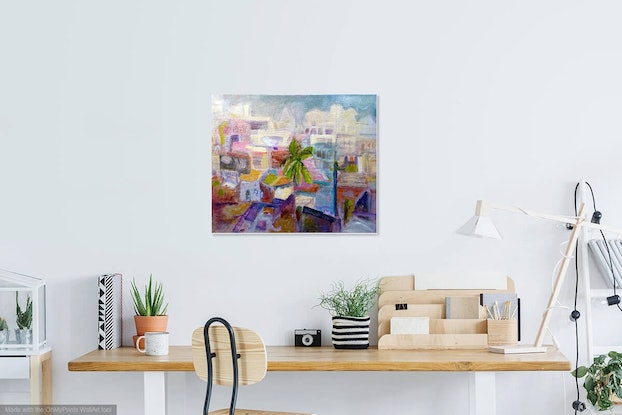 (CreativeWork) ROOM WITH A VIEW - VARANASI , INDIA by Maureen Finck. Oil. Shop online at Bluethumb.