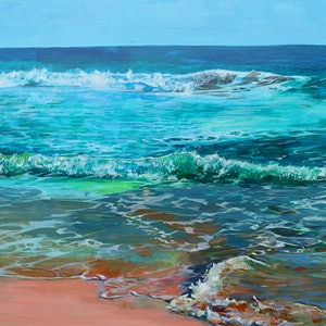(CreativeWork) Trigg Point Beach,  Perth, Western Australia. Unique Christmas Gift of Framed Original Art by Scott Neil. acrylic-painting. Shop online at Bluethumb.