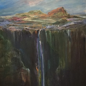 (CreativeWork) Deeper still  by Catherine Coster. oil-painting. Shop online at Bluethumb.