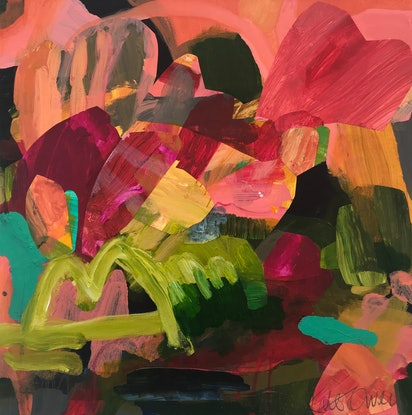 (CreativeWork) Land of Oz by Kate Owen. Acrylic Paint. Shop online at Bluethumb.