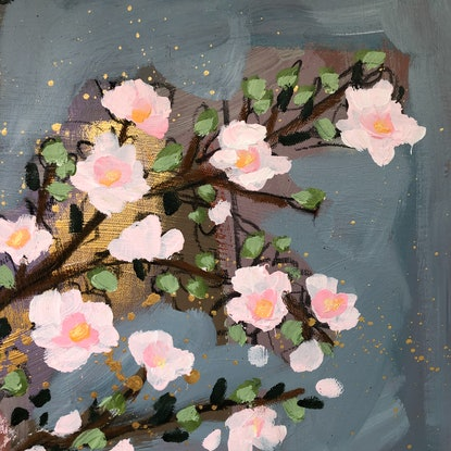 (CreativeWork) Pretty in Pink by Sandra Oost. Mixed Media. Shop online at Bluethumb.