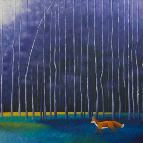 (CreativeWork) Twilight Stroll by Kate Graham. Acrylic Paint. Shop online at Bluethumb.