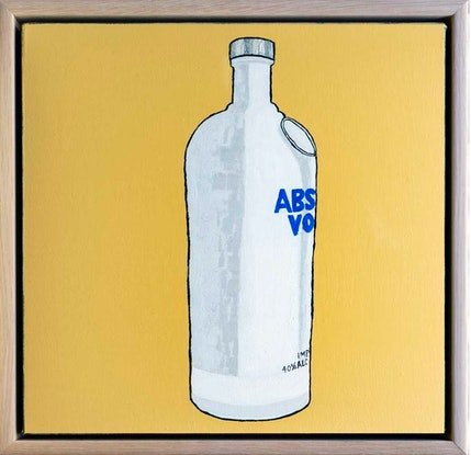 (CreativeWork) Absolut Vodka by Steve Munro. Acrylic Paint. Shop online at Bluethumb.