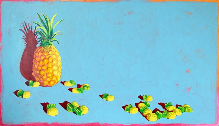 (CreativeWork) Sweeties #4 by Maz Dixon. Oil Paint. Shop online at Bluethumb.