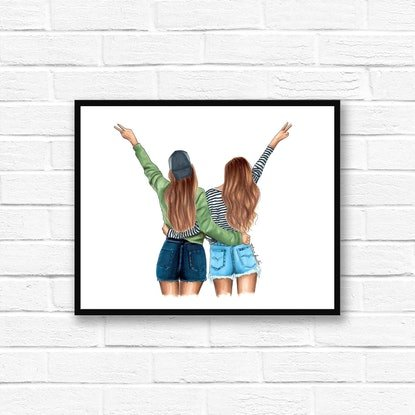 (CreativeWork) Young and Free by Elza Fouché. Drawings. Shop online at Bluethumb.