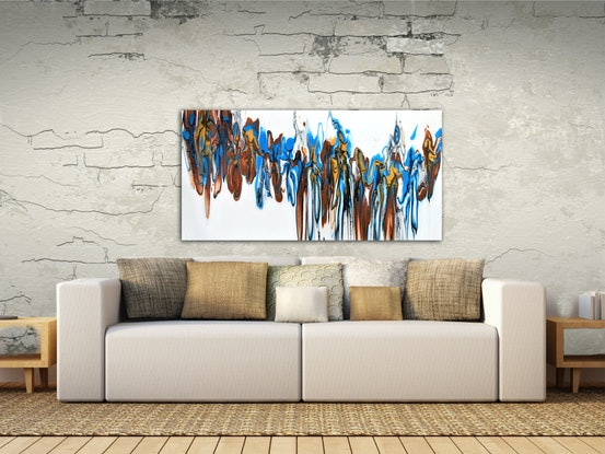 (CreativeWork) Outback Symphony by Brigitte Ackland. Acrylic Paint. Shop online at Bluethumb.