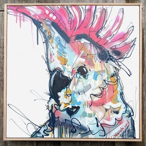 (CreativeWork) Crested Cryer by Aidan Weichard. mixed-media. Shop online at Bluethumb.