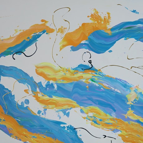 (CreativeWork) The Big Splash by Barry Johnson. Acrylic Paint. Shop online at Bluethumb.