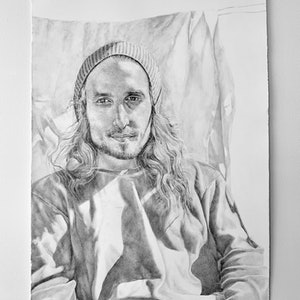 (CreativeWork) Olivier  by Loralee Newitt. drawing. Shop online at Bluethumb.