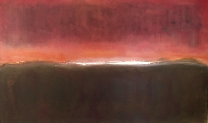 (CreativeWork) Outback awakes by Mike Adlam. Oil Paint. Shop online at Bluethumb.