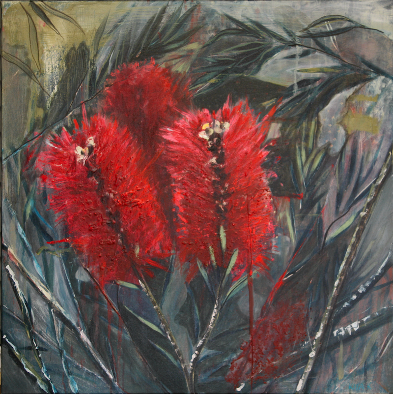 (CreativeWork) Bristly Bottle Brush by Kiya Kalem. Mixed Media. Shop online at Bluethumb.