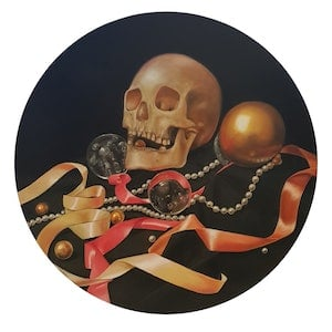 (CreativeWork) Vanitas: In Life Beloved  by Julie Strawinski. oil-painting. Shop online at Bluethumb.