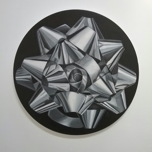 (CreativeWork) Argent (silver) by Julie Strawinski. oil-painting. Shop online at Bluethumb.
