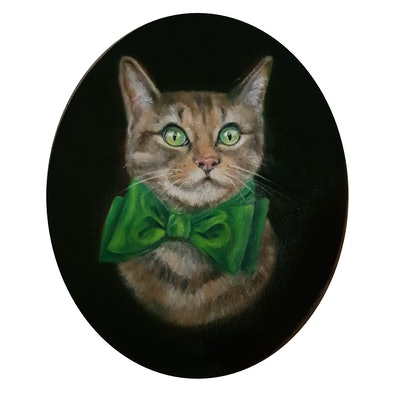 (CreativeWork) Phoebe ( fabulous ) by Julie Strawinski. oil-painting. Shop online at Bluethumb.