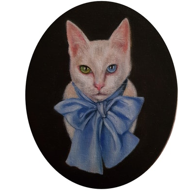 (CreativeWork) Archie by Julie Strawinski. oil-painting. Shop online at Bluethumb.