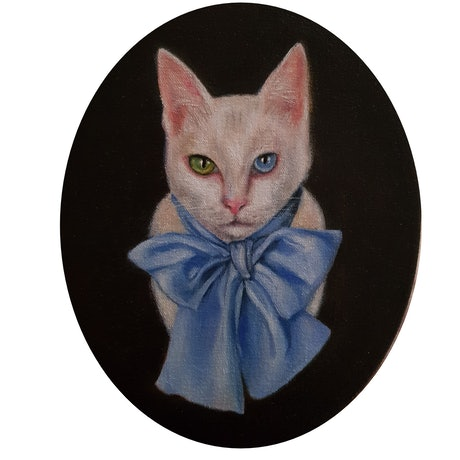(CreativeWork) Archie by Julie Strawinski. Oil Paint. Shop online at Bluethumb.