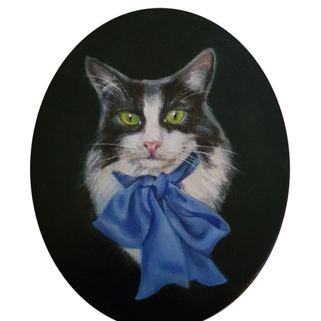 (CreativeWork) Oreo by Julie Strawinski. Oil Paint. Shop online at Bluethumb.