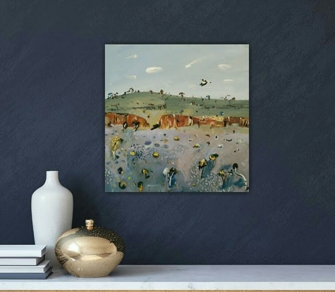 (CreativeWork) Australian abstract landscape  - Rocky Outback #1 by Susan Trudinger. Acrylic Paint. Shop online at Bluethumb.